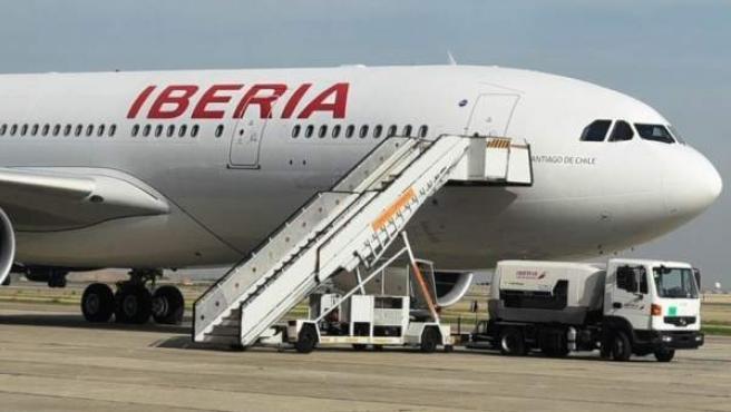 Imagen de archivo de un avión de Iberia.