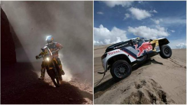 Sam Sunderland Stephane Peterhansel Rally Dakar