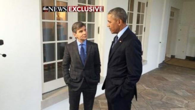 Obama en la entrevista con Stephanopoulos.