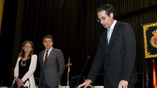 El rector de la URJC, Fernando Suárez, el día de su toma de posesión.