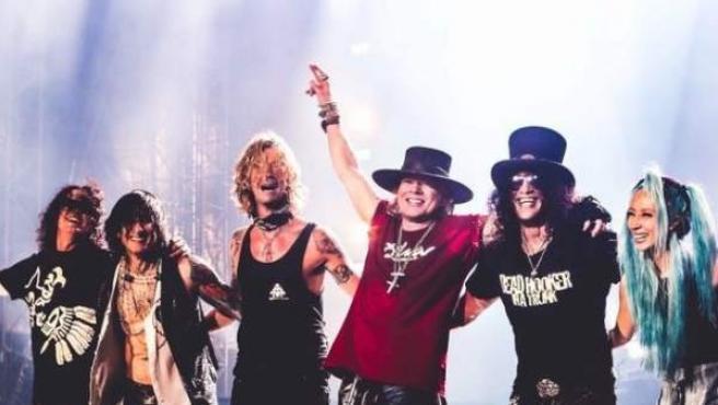 Guns N' Roses, durante un directo.
