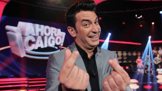 Arturo Valls presenta el concurso '¡Ahora Caigo!', en Antena 3.