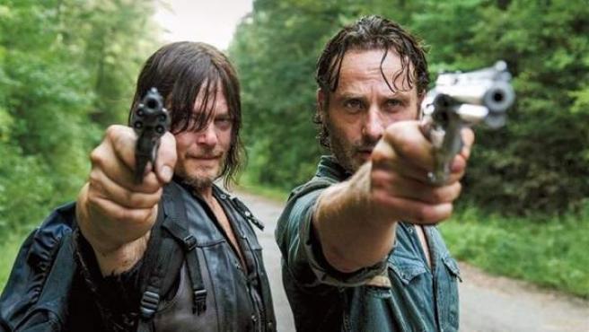Daryl y Rick en una escena de 'The Walking Dead'.