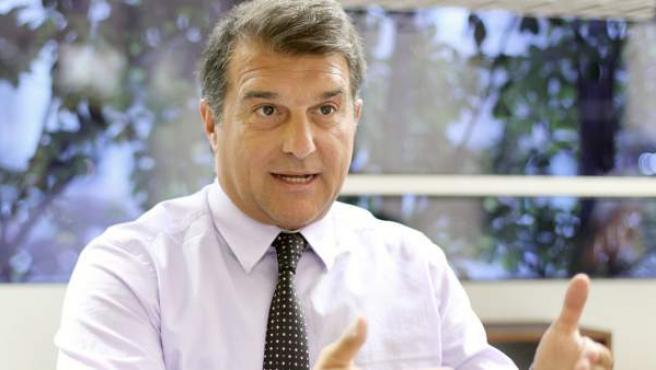 El expresidente del Barça, Joan Laporta, durante una entrevista.