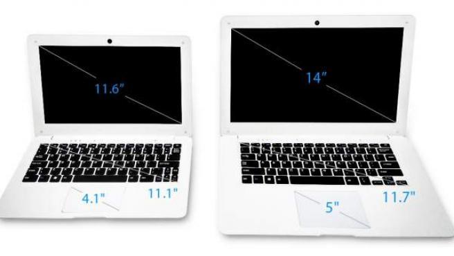 Los dos modelos de Pinebook que saldrán a la venta este mes de febrero.