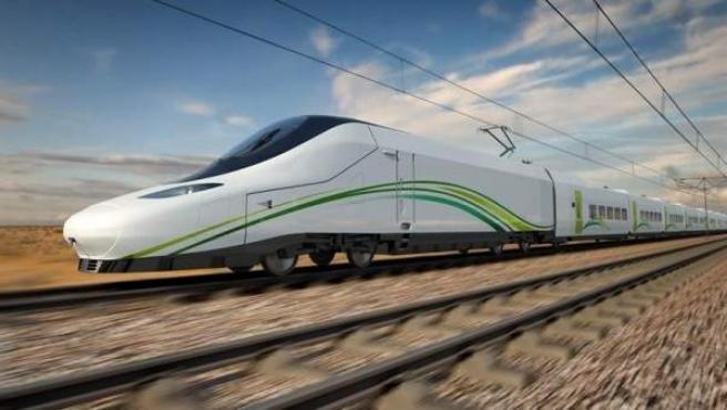 Imagen del proyecto de tren AVE a La Meca.