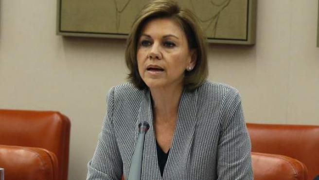 La ministra de Defensa, María Dolores de Cospedal, comparece a petición propia en el Congreso, para informar del dictamen del Consejo de Estado sobre el accidente del Yak-42.