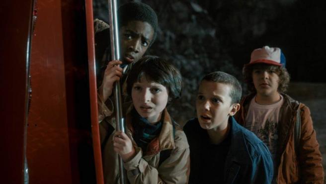 Fotograma de la exitosa serie de Netflix 'Stranger Things', con muchas referencias a clásicos de los ochenta.
