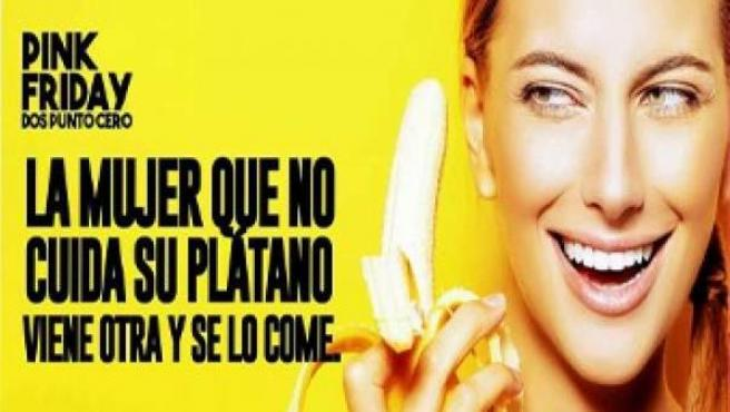 La publicidad anunciaba una fiesta celebrada el pasado 13 de enero en una conocida discoteca del centro de Murcia.