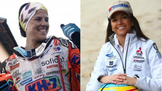 Las pilotos españolas Laia Sanz y Cristina Gutiérrez.