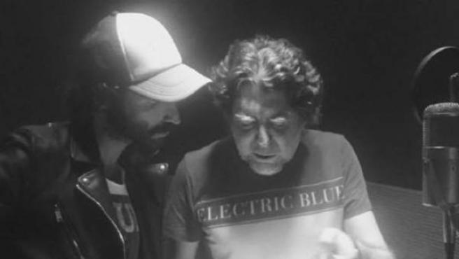Leiva y Joaquín Sabina, trabajando en el nuevo álbum.