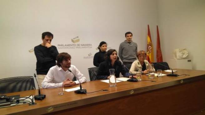 Rueda de prensa del grupo parlamentario de Podemos