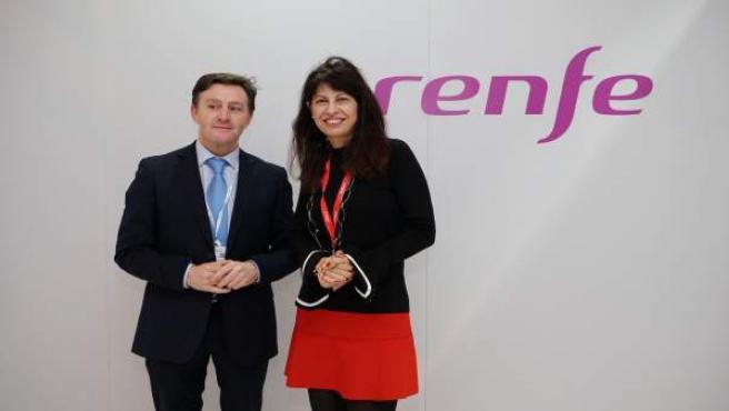 El representante de Renfe Ricardo Rivera y la concejal Ana Redondo