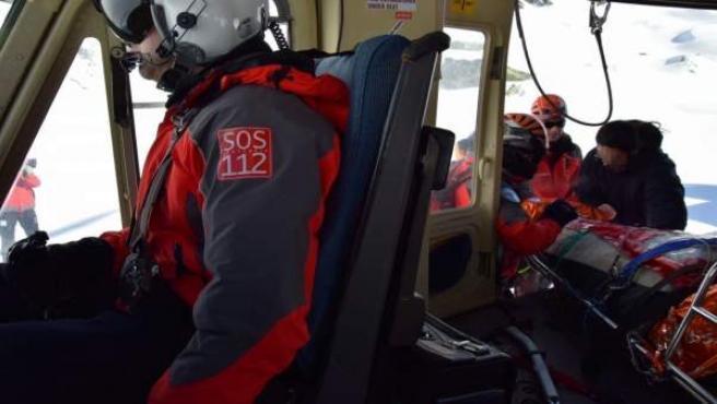 Rescate del 112 en el pico Bóveda