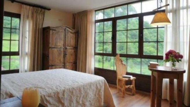 Una habitación de un establecimientro de turismo rural español.