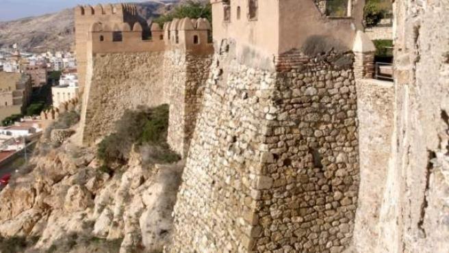 Bastión sur de La Alcazaba de Almería