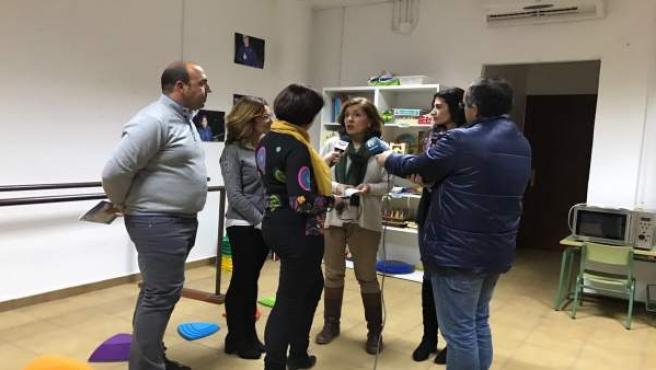 La portavoz del PP en la Diputación de Córdoba, María Jesús Botella, en Rute