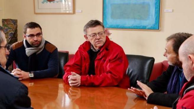 Puig se reune con el equipo de gobierno de Requena por los efectos del temporal