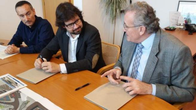 El presidente de Ports de Catalunya y el presidente del Club Náutico de Llançà