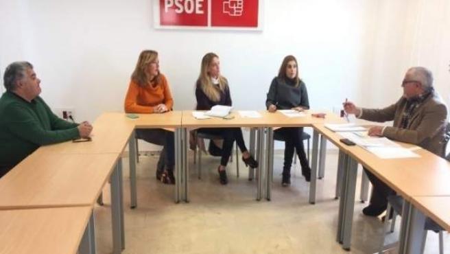 Reunión del PSOE por el Chare de Lepe