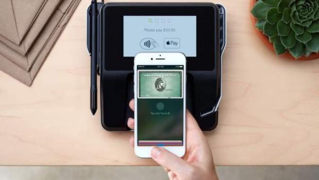 Imagen promocional del sistema Apple Pay.