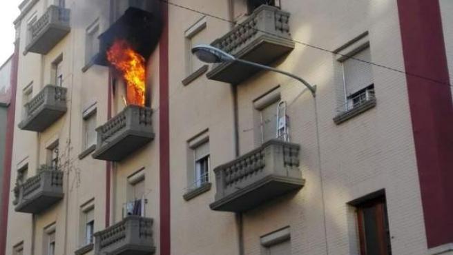 Fuego en Albia de Castro