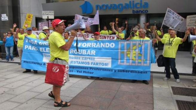 Protesta en Vigo de afectados por las preferentes.