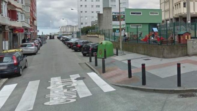 Calle Sol de A Coruña.