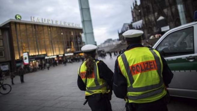Agentes de Policía alemanes, en una imagen de archivo.