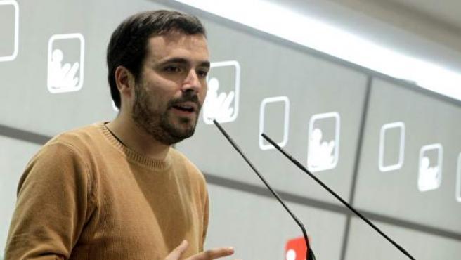 El coordinador federal de Izquierda Unida, Alberto Garzón.