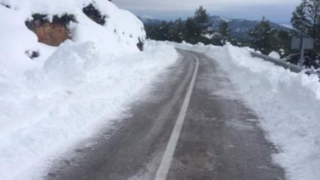 Una de las carreteras secundarias de Valencia ya reabierta
