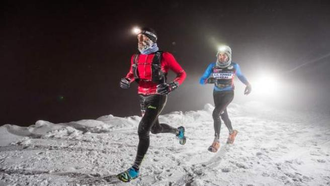 Javier Terrón gana el tercer snow running en Sierra Nevada