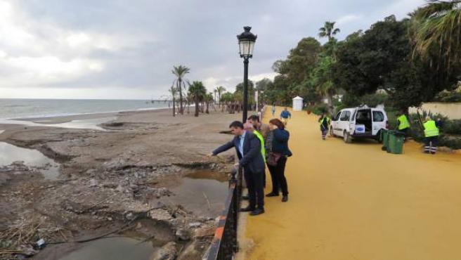 José Bernal paseo marítimo Marbella temporal lluvias inundaciones