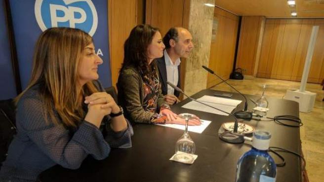 Andrea Levy interviene ante la Junta Directiva del PP de Cantabria