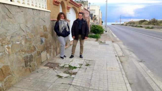 Encuentro del PSOE de Almería con vecinos de Costacabana