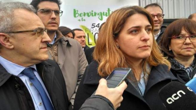 La coordinadora del PDeCAT, Marta Pascal, y el concejal en Lleida, Toni Postius