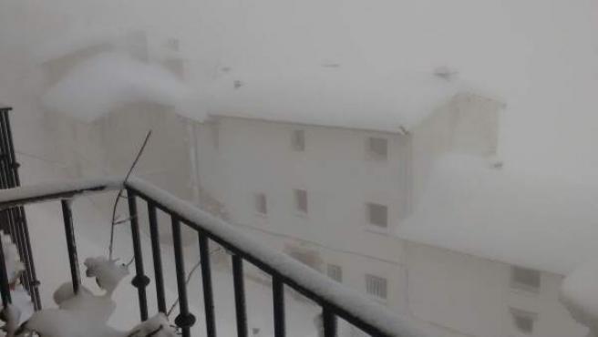 Estado de la localidad de Ares del Maestrat por la nieve