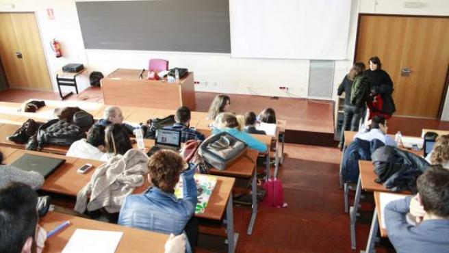 El aula de una universidad.