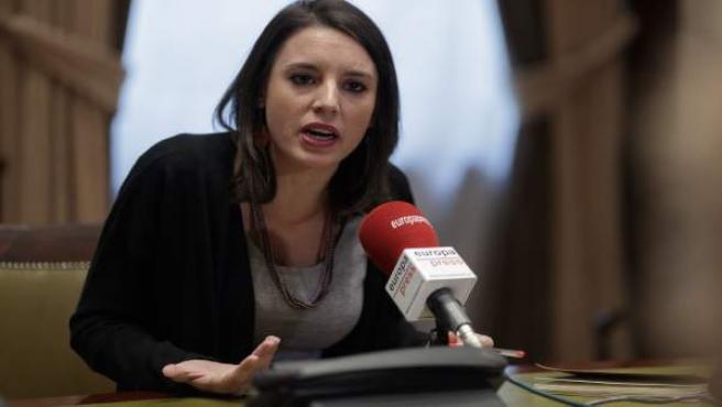 Entrevista de Europa Press a Irene Montero, diputada de Podemos