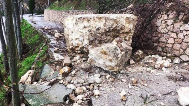 Muralla derrumbada parcialmente en Alicante.