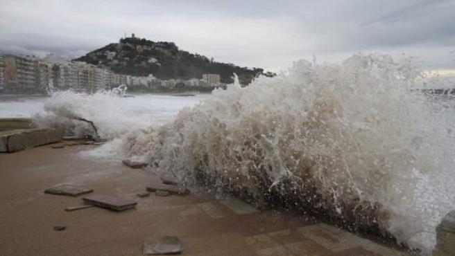 Temporal, olas, frío, lluvia, mar