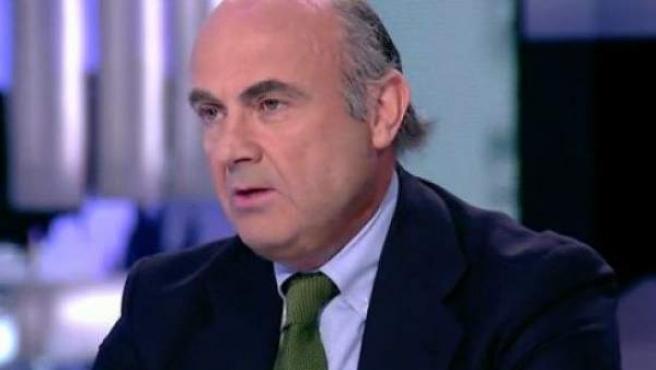 El ministro de Economía, Luis de Guindos, entrevistado en LaSexta.