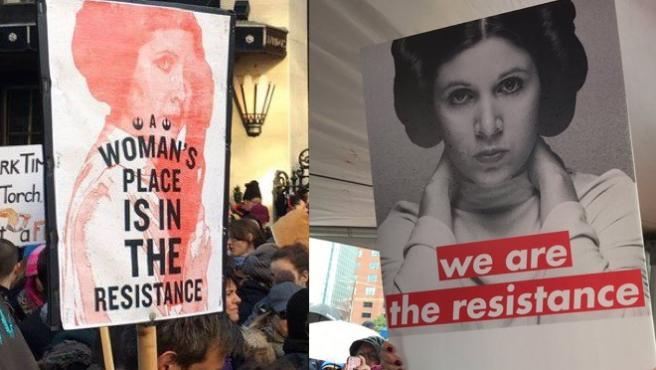 Carrie Fisher, convertida en un icono de las Women's March
