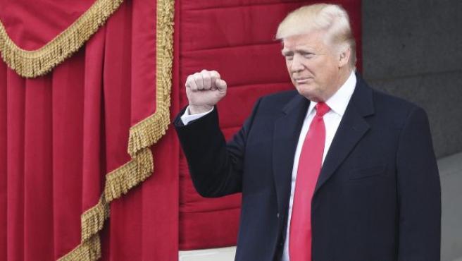 Donald Trump llega al Capitolio para asistir a la ceremonia de su investidura como 45º presidente de los Estados Unidos en Washington DC.