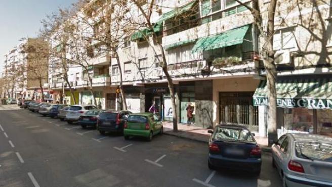 Avenida de los Reyes Católicos en Alcalá de Henares, lugar de la agresión.