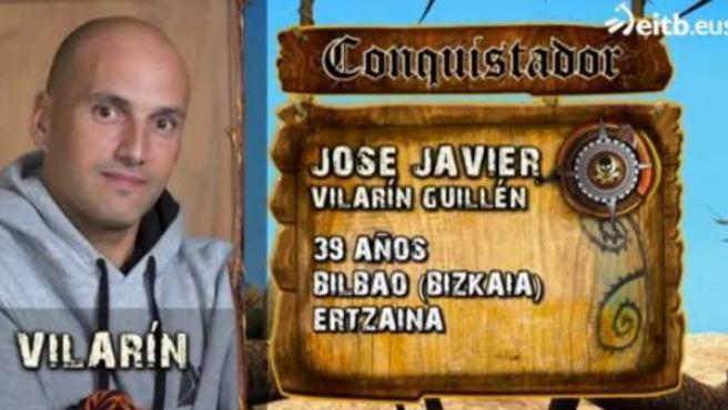 José Javier Vilarín, ertzaina y antidisturbios, es uno de los participantes de 'El conquistador del fin del mundo'.
