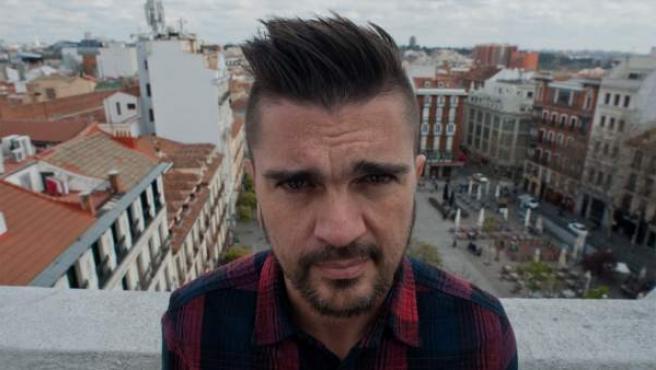 Juanes, durante su visita a Madrid.