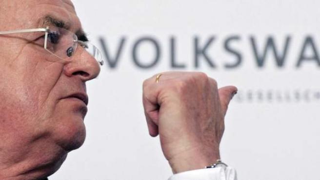 Eel presidente de Volkswagen, Martin Winterkorn.