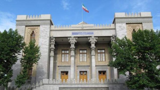 Imagen de la fachada del Ministerio de Asuntos Exteriores en Teherán, capital de Irán.
