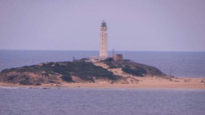 Faro de Trafalgar, en Los Caños de Meca (Barbate).